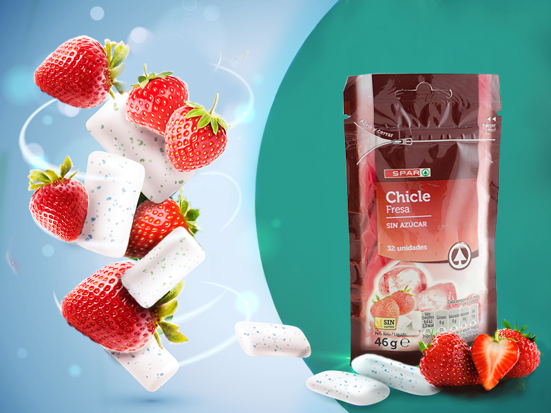 Chewing gum (strawberry)